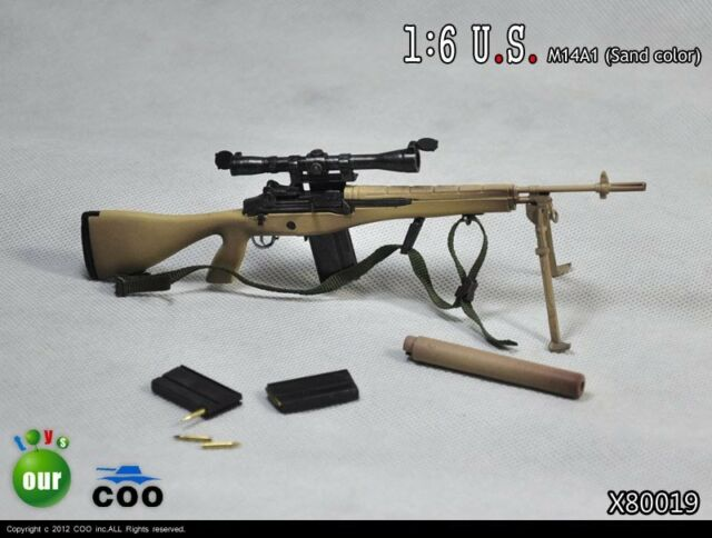 COOMODEL COO US Military M14A1 /& M14 DMR-Short Sniper Rifle Set 1//6