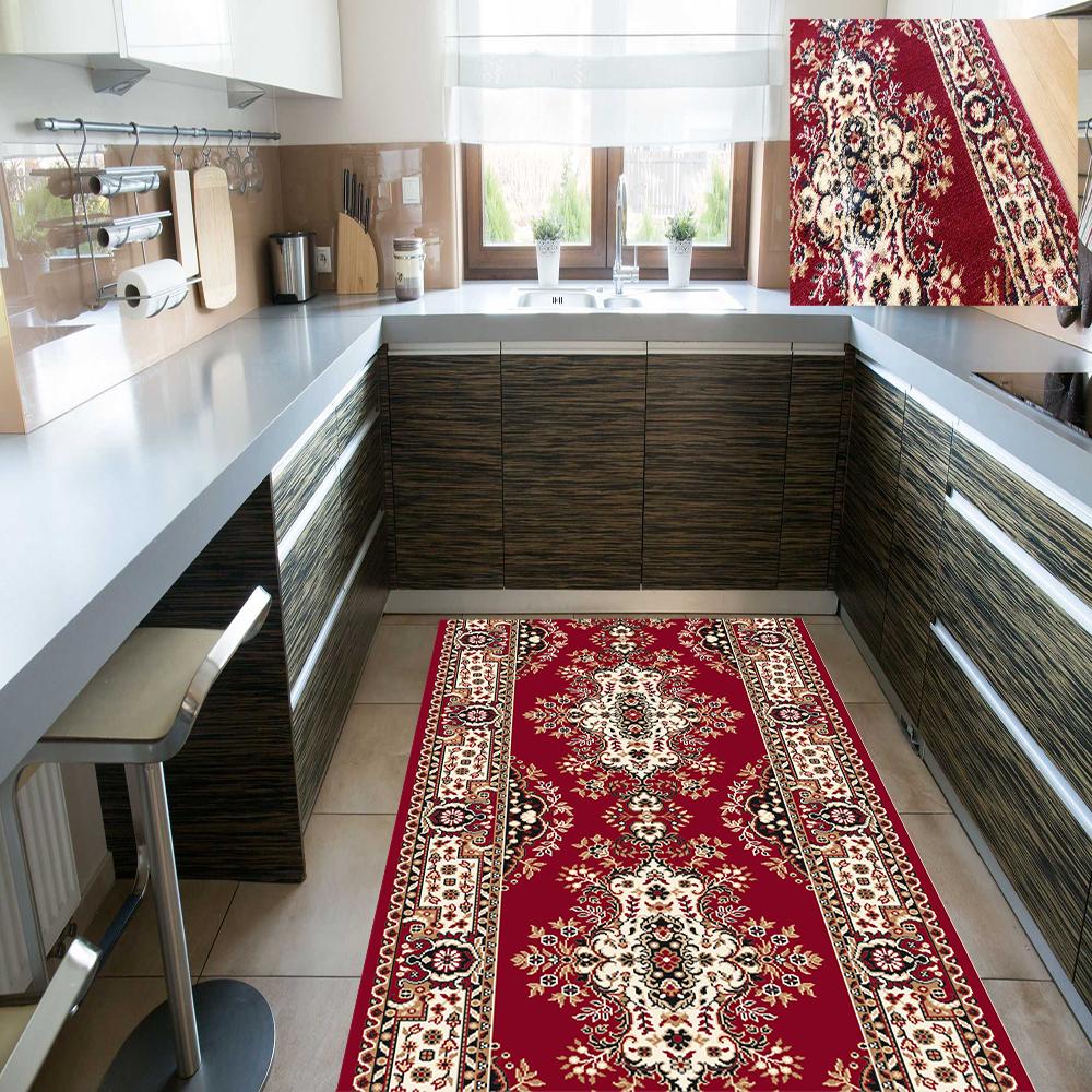 Läufer Küchenläufer Teppichläufer Klassisch Persisch Rot 4 Breiten Wunschlänge