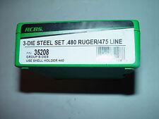 RCBS 3 Die Steel 480 RUGER Reloading Die Set 35208 FREE SHIPPING PRIORITY
