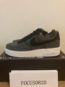 Nike-Air-Force-1-Low-039-07-PRM-Premium-3x1-Black-Denim-Mens-905345-006-SZ-9-5-11