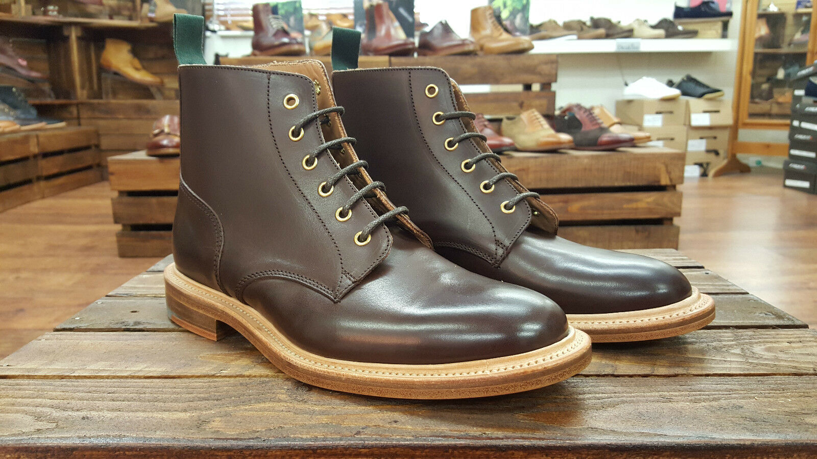 NPS // Made Ebony In England // Derby Ebony Made Handmade botas // REDUCED Was 22 f12a97