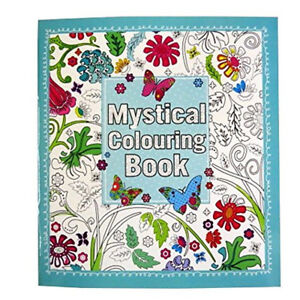 Mystical-Adult-Colouring-Book-64-Pages-Anti-Stress-Art-Therapy-24cm-x-22cm