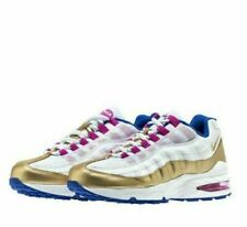 Nike Air Max 95 Le GS A02911-001 White Gold Iridescent Shoes ...