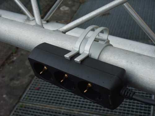 25x THE SNAP Grau Kabel Halter Klammer Schelle für Traversen Rohr incl Gummiring