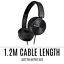 thumbnail 10 - Sony Noise Cancelling Headphones Foldable Stereo On Ear Headset MDRZX110NC New