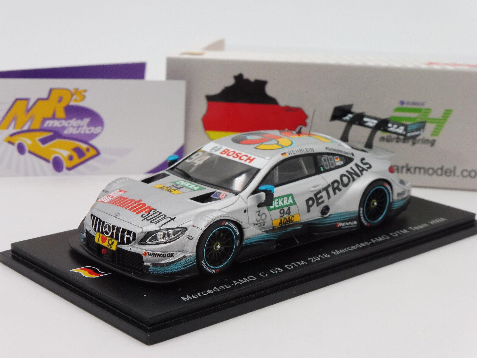 Spark Spark Spark SG437 Mercedes-Benz AMG C63 DTM No. 94 DTM 2018   Pascal Wehrlein   1 43 fcdbf5