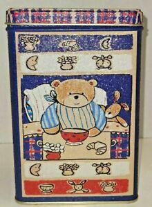 Collector Tin, Teddy Bear with bunny Tin Bank