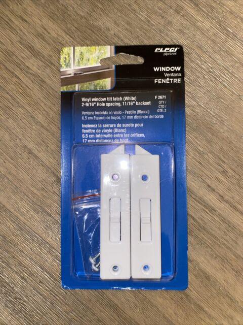Prime-Line Products F 2671 Window Tilt Lock 1 Pair White Vinyl