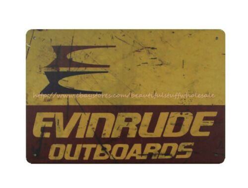 Evinrude Outboards motors metal tin sign house accessories