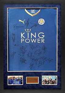 Image is loading Leicester-City-F-C-FRAMED-SIGNED-SQUAD-JERSEY-INC- 55d6a8f22