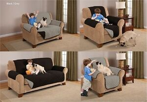 * PREMIUM* REVERSABLE PET DOG COUCH SOFA FURNITURE PROTECTOR COVER, BLACK / GREY