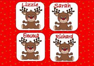 Personalised Christmas Drinks Coasters Cute Design Secret Santa Ideas Merry Xmas Ebay