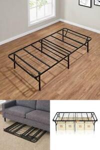 Twin Folding Steel Bed Frame Foundation