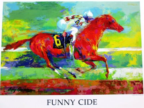 Leroy Neiman Poster Funny Cide thoroughbred race horse Kentucky Derby Preakness
