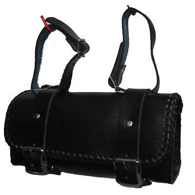 Motorrad Werkzeugtasche Chopper Werkzeugrolle Satteltasche Gepäckrolle Toolbag #