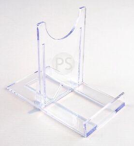 Image is loading Large-Adjustable-Stand-Clear-Plastic-Plate-&-Bowl-  sc 1 st  eBay & Large Adjustable Stand :Clear Plastic Plate \u0026 Bowl Twist Display ...