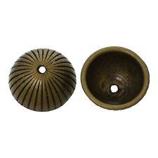 10x Perlenkappen Perlkappen Endkappen Blumen für 16 mm Perlen antikbronze