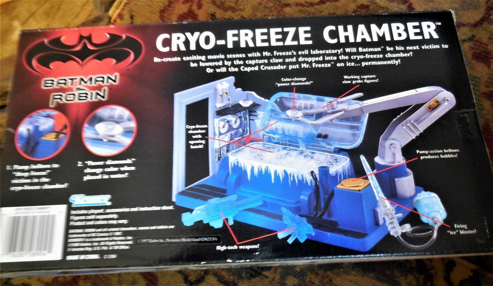 BATMAN & Robin Cryo-FREEZE CHAMBER  New Factory Sealed  Kenner