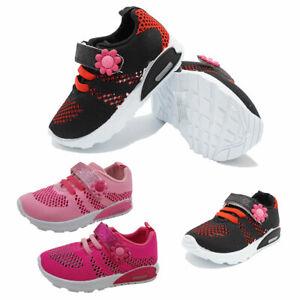 LED Light Up Luminous Kids Baby Girls Breathable Mesh Fashion Infant Sneakers