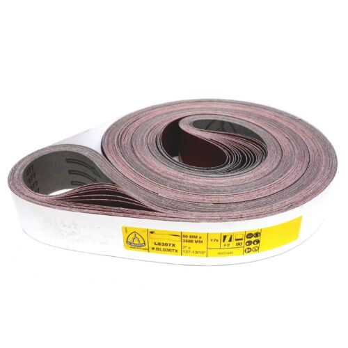 5 x Klingspor tissus Schleifband abrasifs 50x1020 50x2000 50x1500 UVM Korn