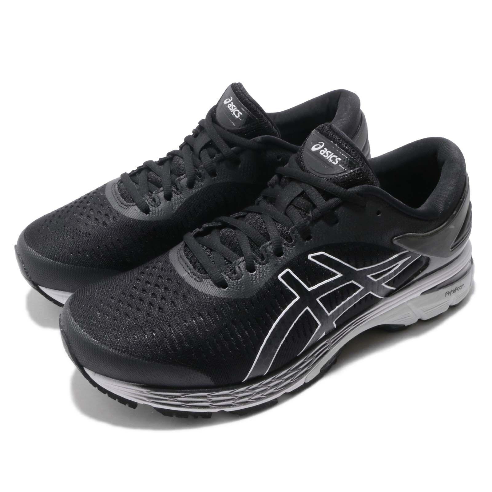 Asics Gel Kayano 25 2E Wide Black Grey Men Running shoes Sneakers 1011A029-003