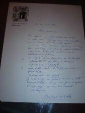 CONSTANT LE BRETON  LETTRE AUTOGRAPHE 1966