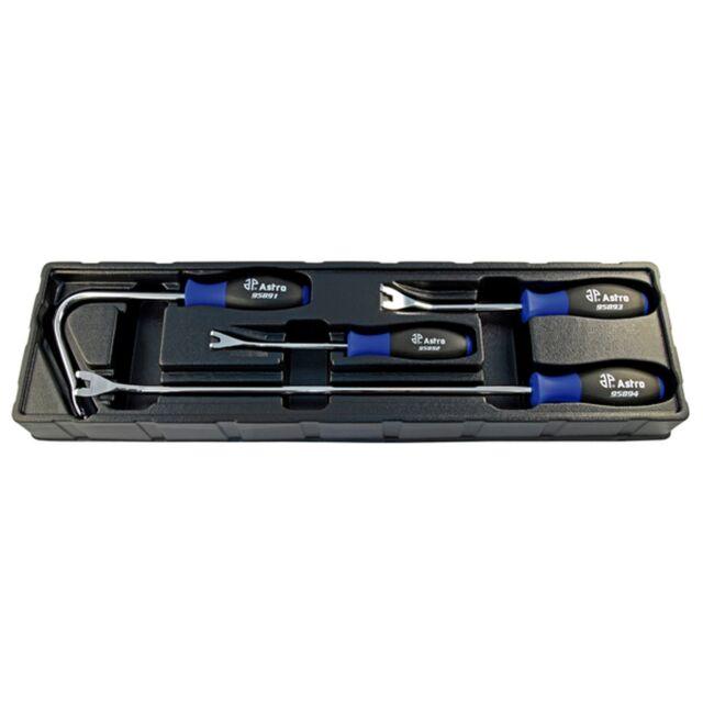 4 Piece Upholstry Tool Set Door Panel Fasteners, Clip  remover  Ast9589