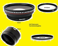0.43x Wide Angle Lens 72mm+adapter To Nikon L830 L820 L810+uv 62+62/72mm Coolpix
