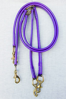 Horse Stall Ties - PURPLE with Brass Fittings