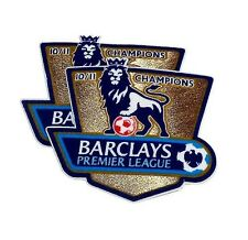 2 Manchester United Barclays Premier League Champions 10/11 Shirt Sleeve Patches