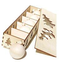 Diy Blank Wood Christmas Ball Ornament 5-piece Set - Design, Paint, Personalize