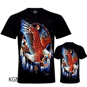 892c4c13 Men T-Shirt Native American Bike Biker Eagle Dream Catcher T-Shirt ...
