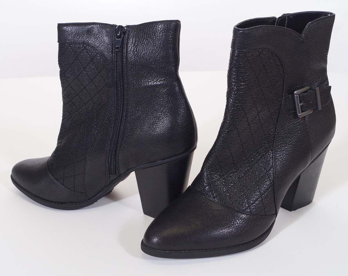 nuovo stile Me Too Charis donna nero Leather Heels Ankle avvioie avvioie avvioie stivali 10M  qualità garantita