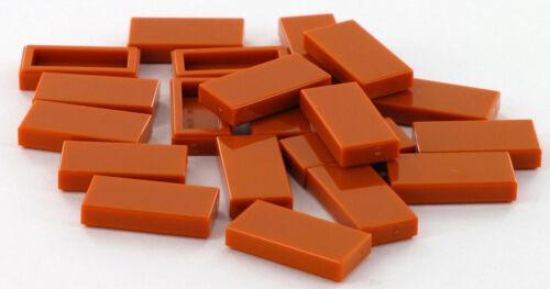 1x2 20 Stück LEGO Stein Fliese Bright Orange NEU 4188771 Platte glatt 3069
