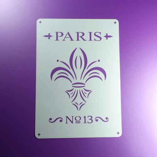 BO461 A4 Schablone Paris No13 Fleur de Lis Lilie
