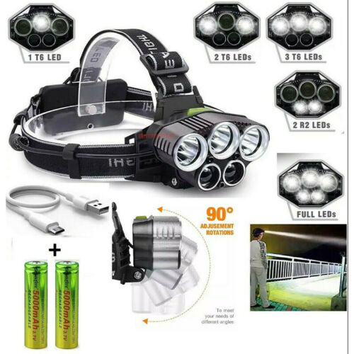 USB Rechargeable Outdoor Night Fishing LED Strong Light Headlight Multi-function