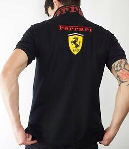 Ferrari-F1-Polo-Shirt-For-Men-Size-L-in-Black