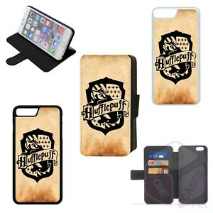 new concept 7c6c6 e1e41 Details about HARRY POTTER HUFFLEPUFF Flip Phone Case Wallet Cover iPhone 4  5 6 7 8 PLUS X (L)