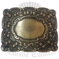 Scottish Bagpipe Piper Belt Buckle Antique/Piper Kilt Belt Buckle/Highland Wear