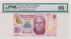 MEXICO-banknote-50-Pesos-2013-PMG-MS-66-EPQ-Gem-Uncirculated-grade