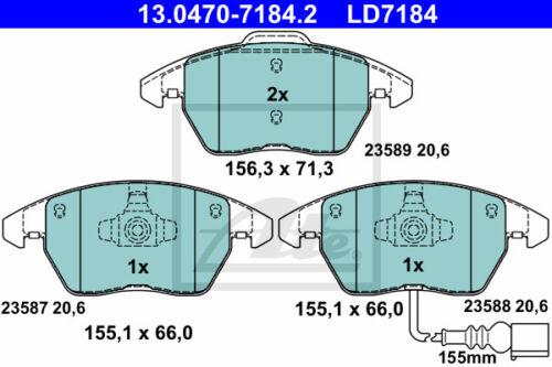 2KB, 2KJ, 2CB, 2CJ ATE Ceramic Bremsbelagsatz 13.0470-7184.2 VW CADDY III Kombi