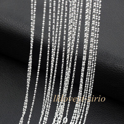 """Wholesale 5PCS//Lot Fashion Jewelry 925 Plated Silver Chain Necklace Gift 16-30/"""""""