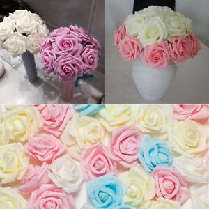200-mousse-rose-artificiel-fausses-fleurs-tete-mariage-Bouquet-maison-decoration