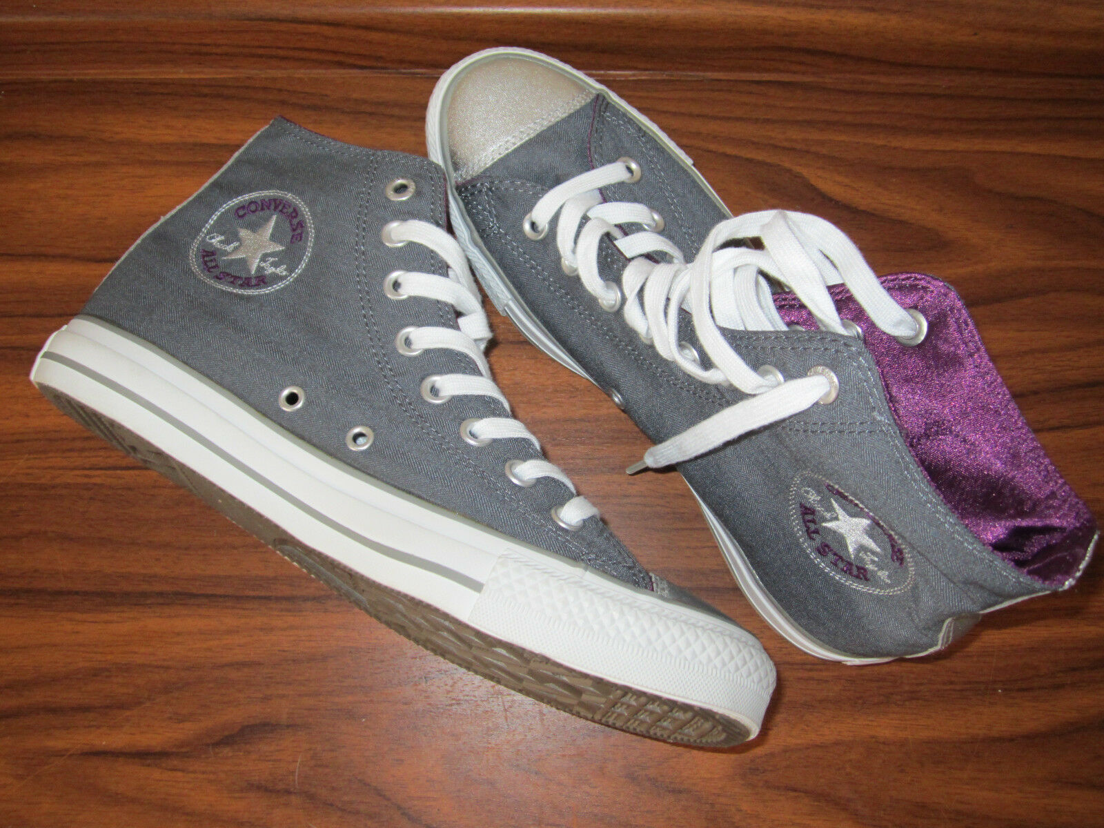 All Star Converse High Top Sneaker Gr. 40 grau silber NEU 3-226