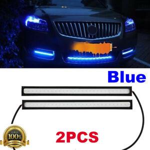 Waterproof 1 Pair COB Car LED Lights 12V For DRL Fog Light Driving Lamp Bright