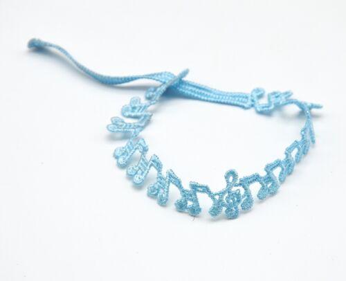 9 Couleurs Bracelet Motif Notes Musique Tissu Style Dentelle Mode BCD03