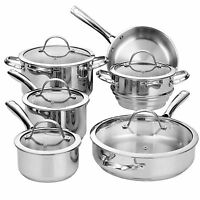 Cooks Standard Classic Stainless-steel 11-piece Cookware Set on sale