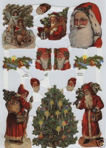 # GLANZBILDER # EF 7218 Engel /& Santas /& Weihnachtsbaum