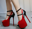 thumbnail 12 - Women Sexy Peep Toe High Heels Ankle Strap Buckle Stilettos Platform Party Shoes