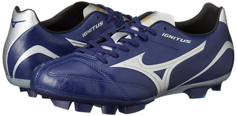 Mizuno Japan Ignitus 4 Md Fußball Schuhe P1ga1732 Marineblau Silber Neu